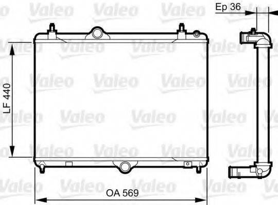 Радиатор, охлаждение двигателя VALEO 735371