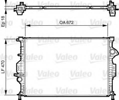 Радиатор, охлаждение двигателя VALEO 735373