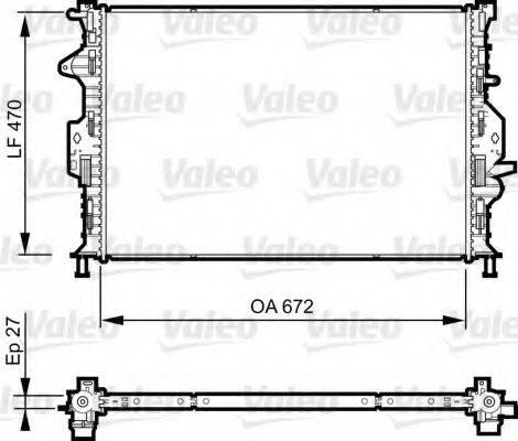 Радиатор, охлаждение двигателя VALEO 735376