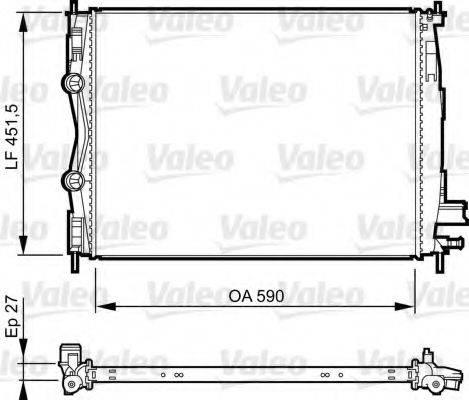 Радиатор, охлаждение двигателя VALEO 735381