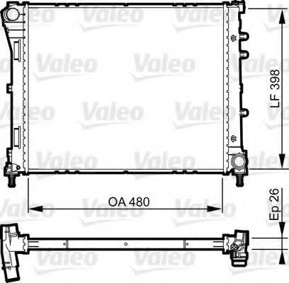 Радиатор, охлаждение двигателя VALEO 735273