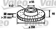VALEO 197184 Тормозной диск