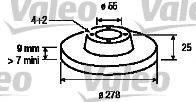 VALEO 197111 Тормозной диск