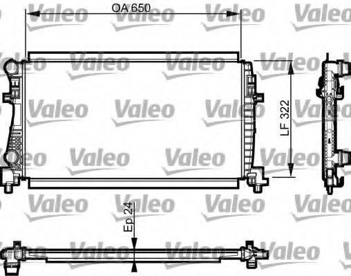 Радиатор, охлаждение двигателя VALEO 735557
