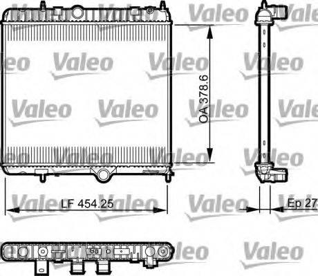 Радиатор, охлаждение двигателя VALEO 735560