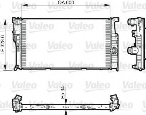 Радиатор, охлаждение двигателя VALEO 735612