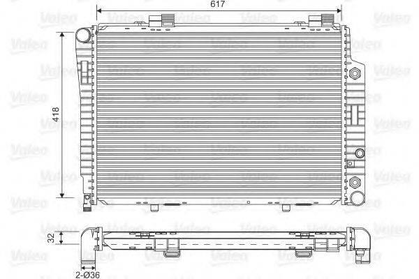 Радиатор, охлаждение двигателя VALEO 731805