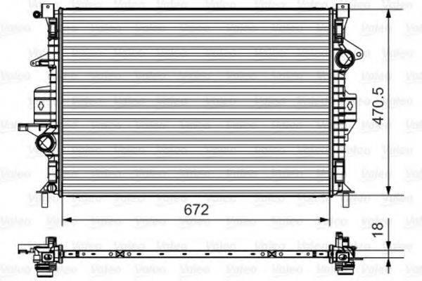 Радиатор, охлаждение двигателя VALEO 735550