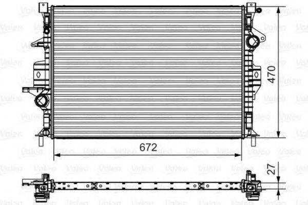 Радиатор, охлаждение двигателя VALEO 735551