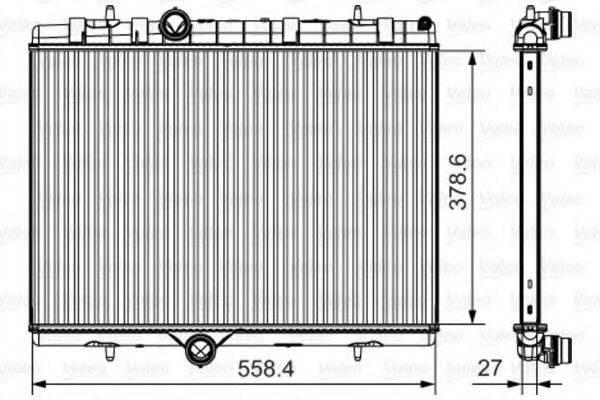 Радиатор, охлаждение двигателя VALEO 735630