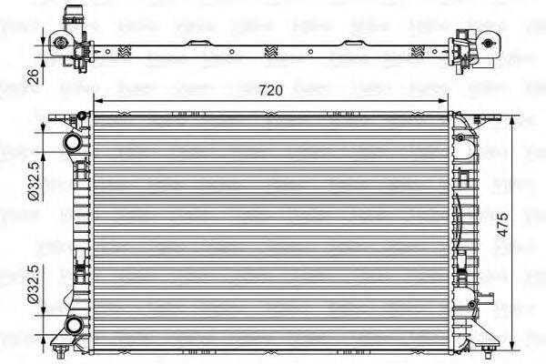 Радиатор, охлаждение двигателя VALEO 735471