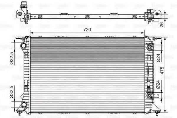 Радиатор, охлаждение двигателя VALEO 735472