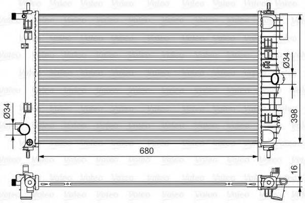 Радиатор, охлаждение двигателя VALEO 735483