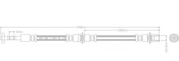 REMKAFLEX 3111 Тормозной шланг