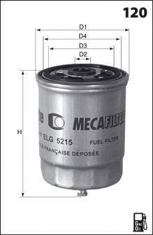 MECAFILTER ELG5204 Топливный фильтр