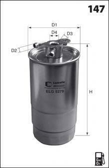MECAFILTER ELG5279 Топливный фильтр