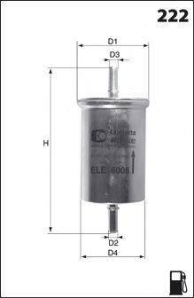 MECAFILTER ELE6006 Топливный фильтр