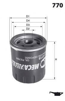 MECAFILTER ELH4088 Масляный фильтр