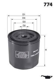 MECAFILTER ELH4114 Масляный фильтр