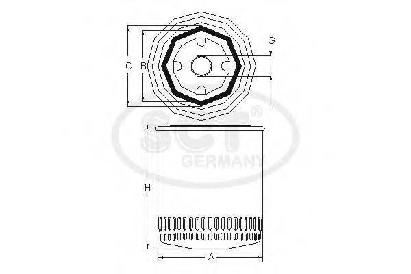 SCT GERMANY SM5083 Масляный фильтр