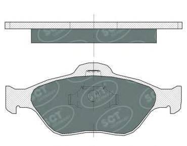 SCT GERMANY SP363PR Комплект тормозных колодок, дисковый тормоз