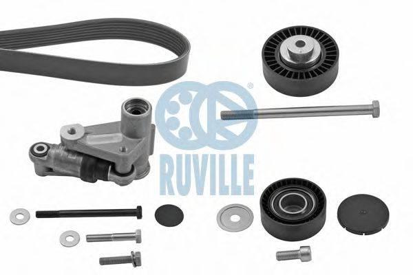 RUVILLE 5509382 Поликлиновой ременный комплект