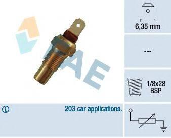 FAE 31570 Датчик, температура охлаждающей жидкости
