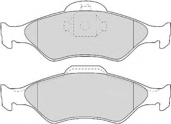 NECTO FD6891A Комплект тормозных колодок, дисковый тормоз