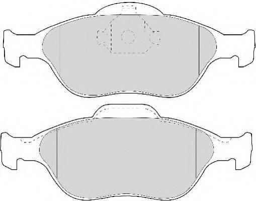 NECTO FD6909A Комплект тормозных колодок, дисковый тормоз