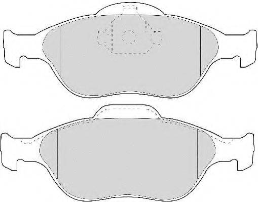 NECTO FD6909N Комплект тормозных колодок, дисковый тормоз
