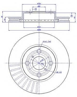 CAR 1421438 Тормозной диск