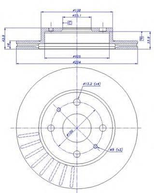 CAR 142351 Тормозной диск