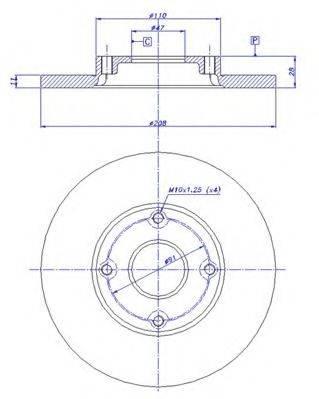 CAR 142615 Тормозной диск