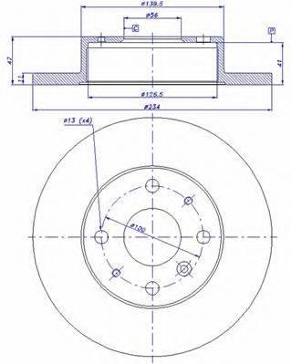 CAR 142896 Тормозной диск