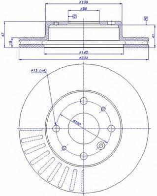 CAR 142897 Тормозной диск