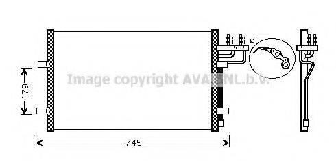 AVA QUALITY COOLING FD5367 Конденсатор, кондиционер
