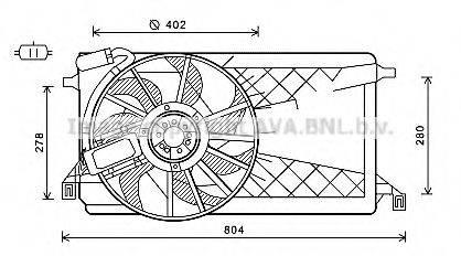 AVA QUALITY COOLING FD7563 Вентилятор, охлаждение двигателя