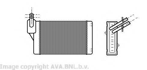 Теплообменник, отопление салона AVA QUALITY COOLING VWA6060