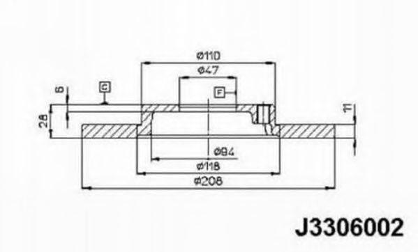 NIPPARTS J3306002 Тормозной диск