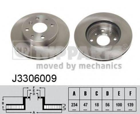 NIPPARTS J3306009 Тормозной диск