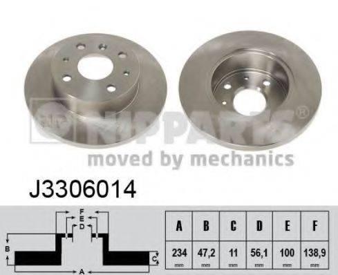 NIPPARTS J3306014 Тормозной диск