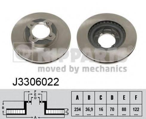 NIPPARTS J3306022 Тормозной диск