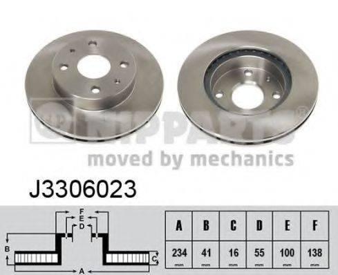 NIPPARTS J3306023 Тормозной диск