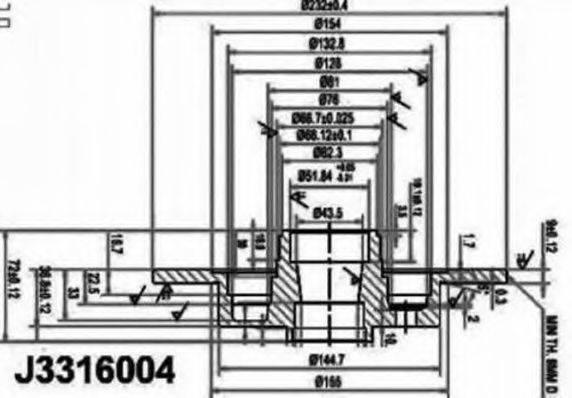 NIPPARTS J3316004 Тормозной диск