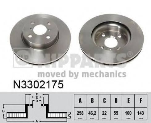 NIPPARTS N3302175 Тормозной диск