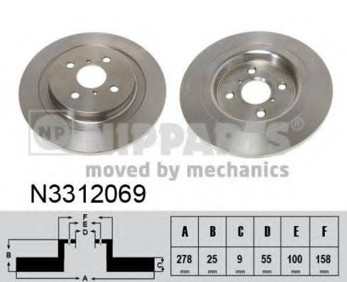 NIPPARTS N3312069 Тормозной диск