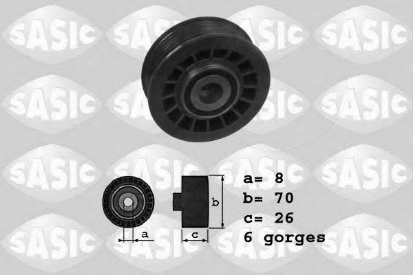 SASIC 1626143 Паразитный / ведущий ролик, поликлиновой ремень
