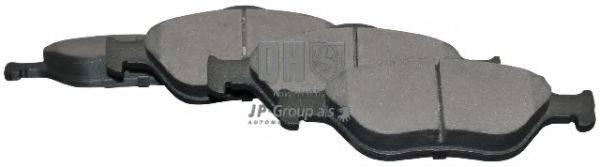 JP GROUP 1563600319 Комплект тормозных колодок, дисковый тормоз