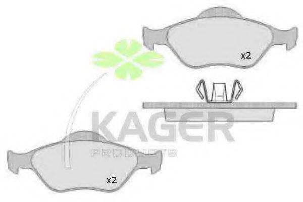 KAGER 350481 Комплект тормозных колодок, дисковый тормоз