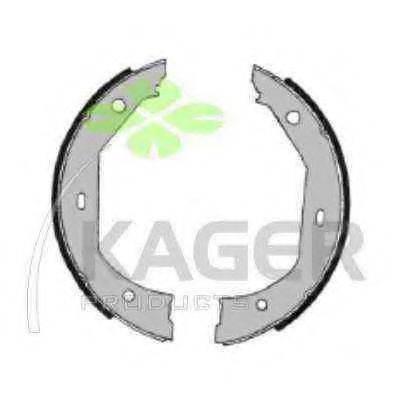 KAGER 340427 Комплект тормозных колодок, стояночная тормозная система